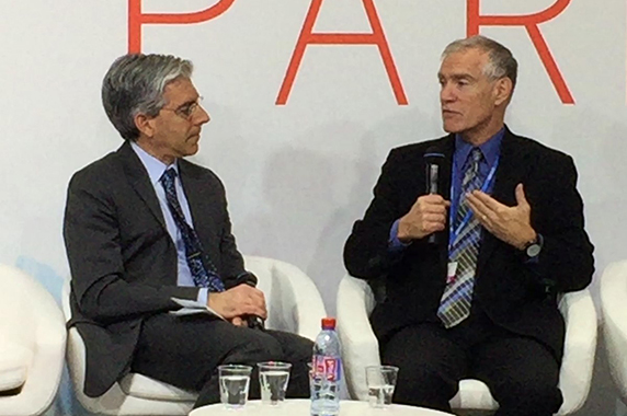 Jeff Thompson at the Paris Climate Talks in 2015.
